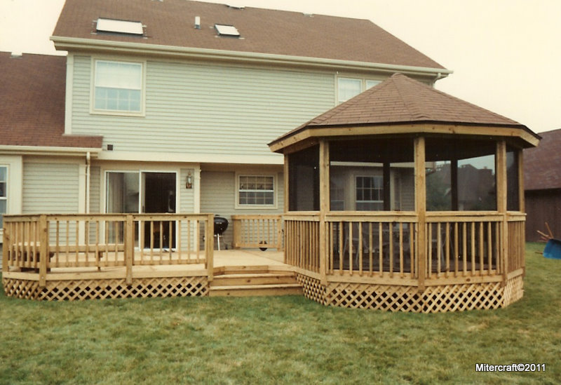 Mitercraft construction gallery for Decks and gazebos