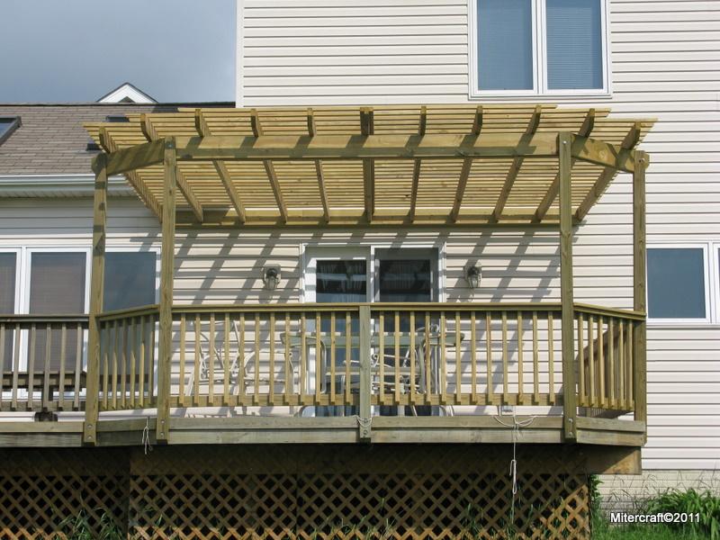 pergola designs existing deck
