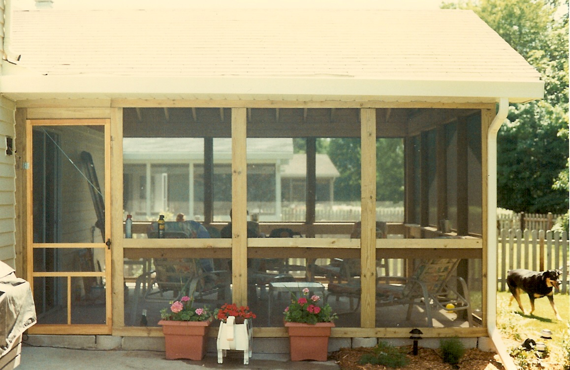 Porch On Concrete Patio Great Dog!